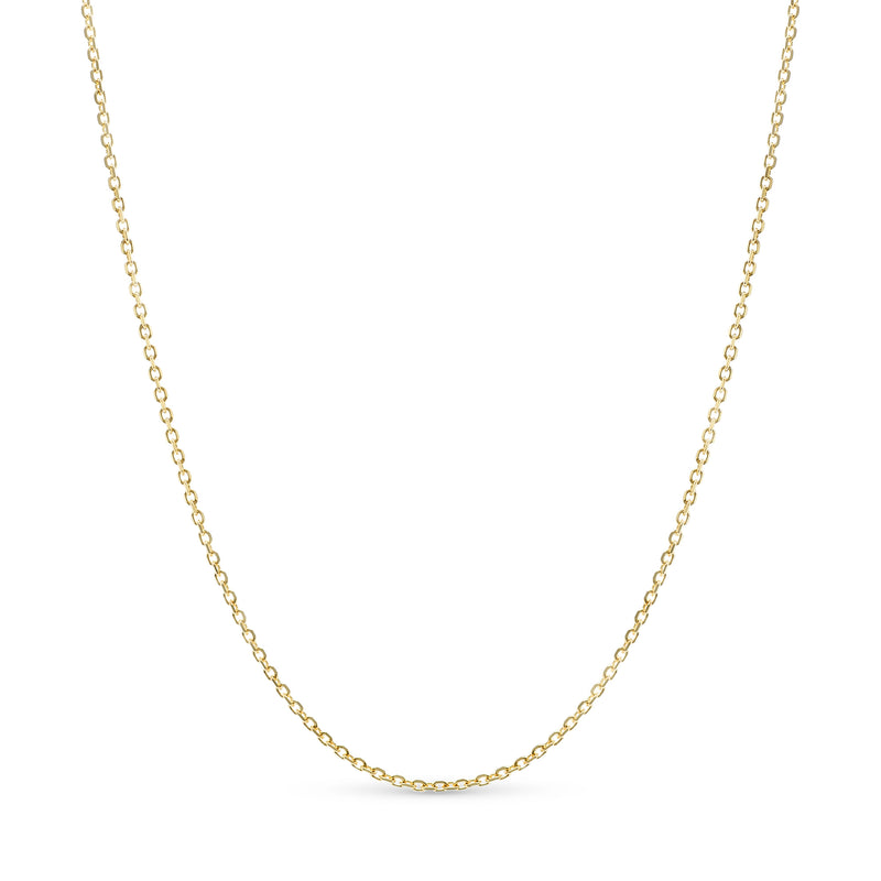 Thin Rolo Link Chain 14K Yellow Gold 1.0mm