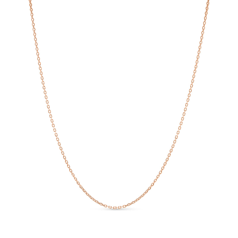 Thin Rolo Link Chain 14K Rose Gold 1.0mm