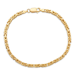 Byzantine Link Bracelet 14K Yellow Gold 3.5mm