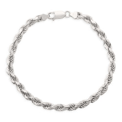Rope Bracelet 14K White Gold 5.0mm