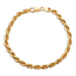 Rope Bracelet 14K Yellow Gold 5.0mm