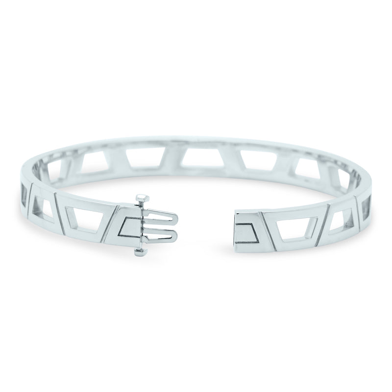 Signature Brick Bracelet 18K White Gold