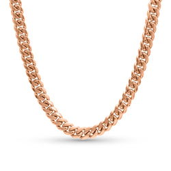 Cuban Link Chain 10K/14K Rose Gold 10mm
