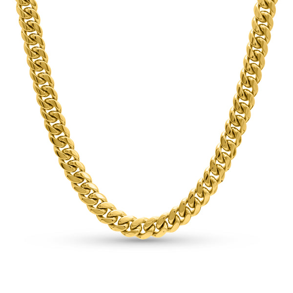 Cuban Link Chain 14K Yellow Gold 10mm