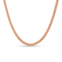Cuban Link Chain 14K Rose Gold 6mm