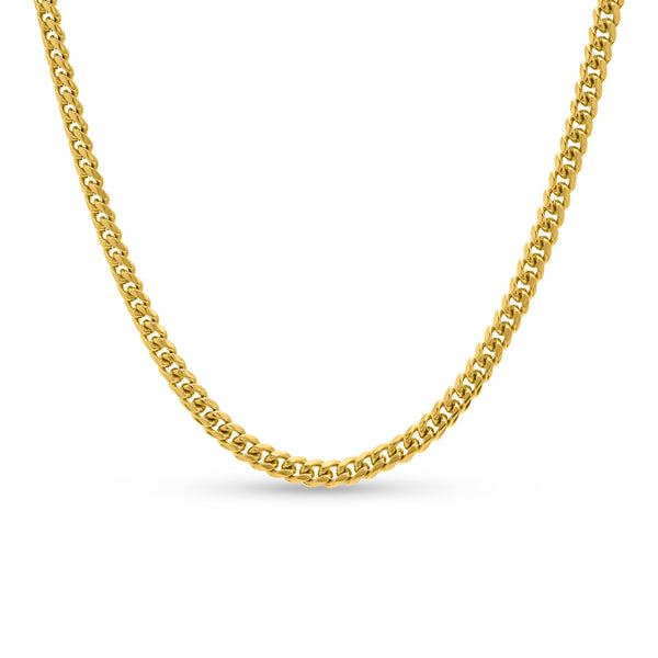 Cuban Link Chain 10K/14K Yellow Gold 6mm