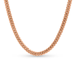 Cuban Link Chain 14K Rose Gold 8mm