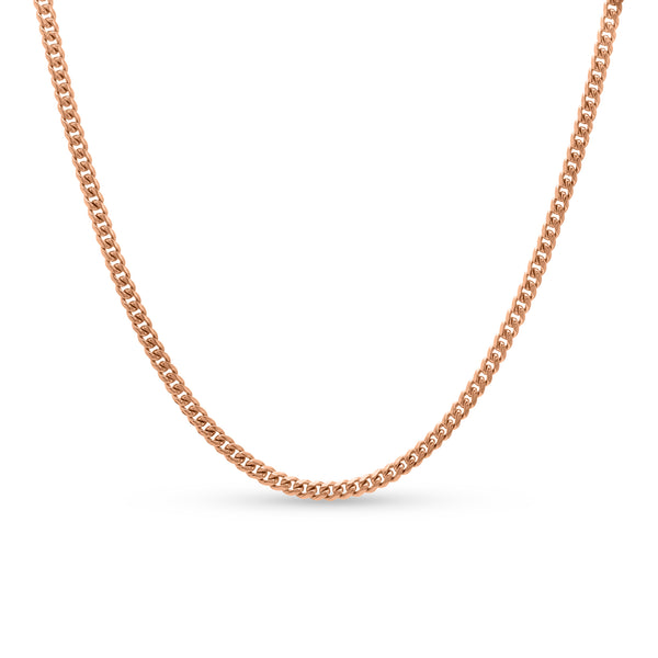 Cuban Link Chain 10K/14K Rose Gold 4mm