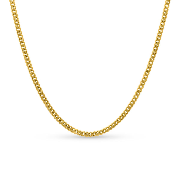 Cuban Link Chain 10K/14K Yellow Gold 4mm