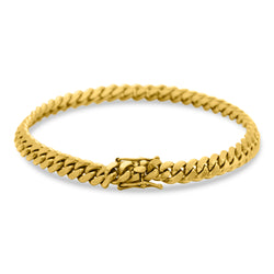 Cuban Link Bracelet 10K/14K Yellow Gold 8mm