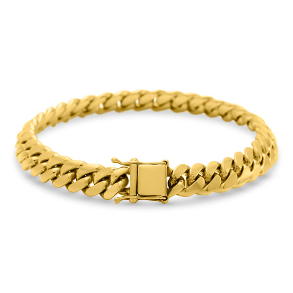 Cuban Link Bracelet 14K Yellow Gold 10mm