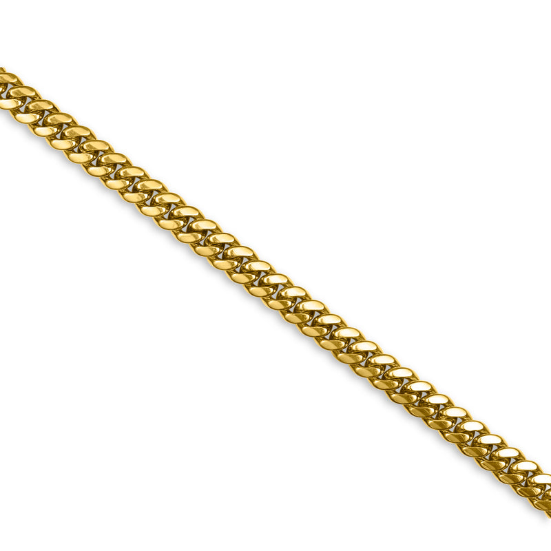 Cuban Link Chain 14K Yellow Gold 8mm