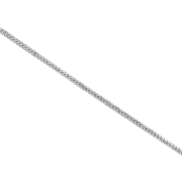 Cuban Link Chain 10K/14K White Gold 4mm