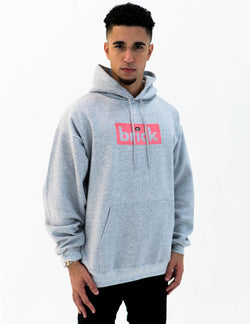 brick 14k gold bonded hoodie - grey / rose gold