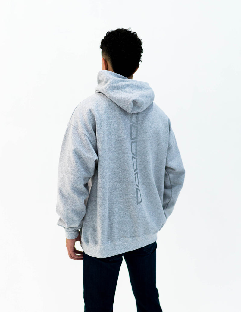 brick 14k gold bonded hoodie - grey / white gold