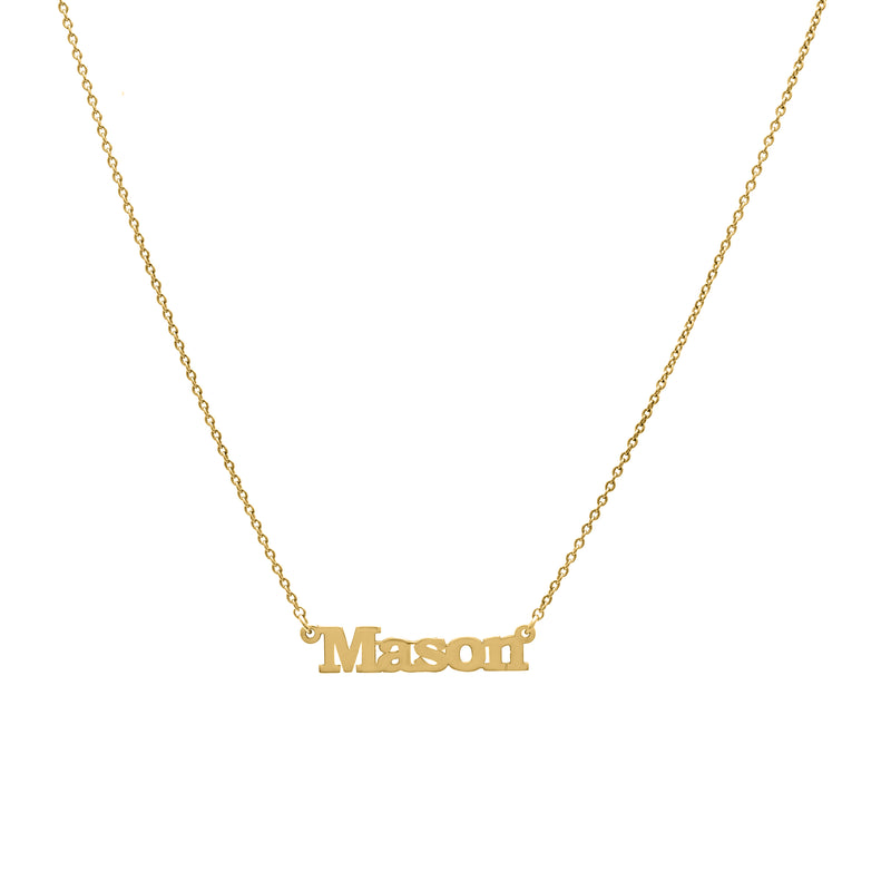 Modern - Yellow Gold Nameplate Necklace