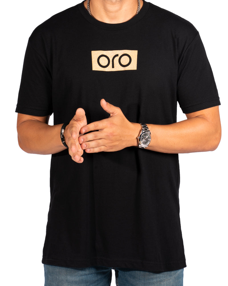 Oro Short Sleeve T-Shirt - Black/Gold
