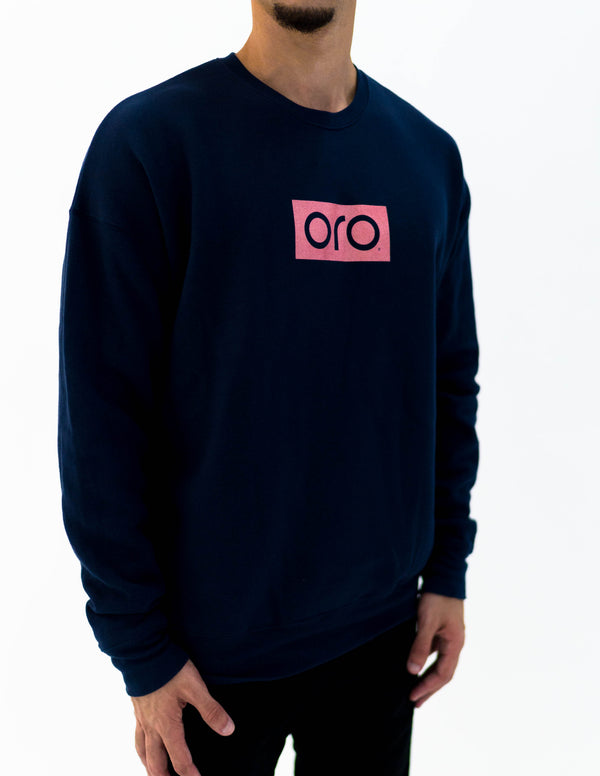 oro sweater - navy / rose gold