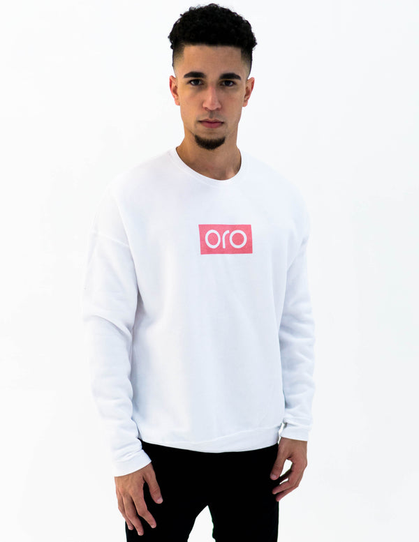 oro sweater - white / rose gold