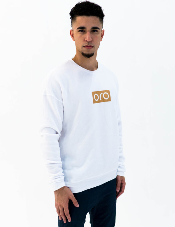 oro sweater - white / yellow gold