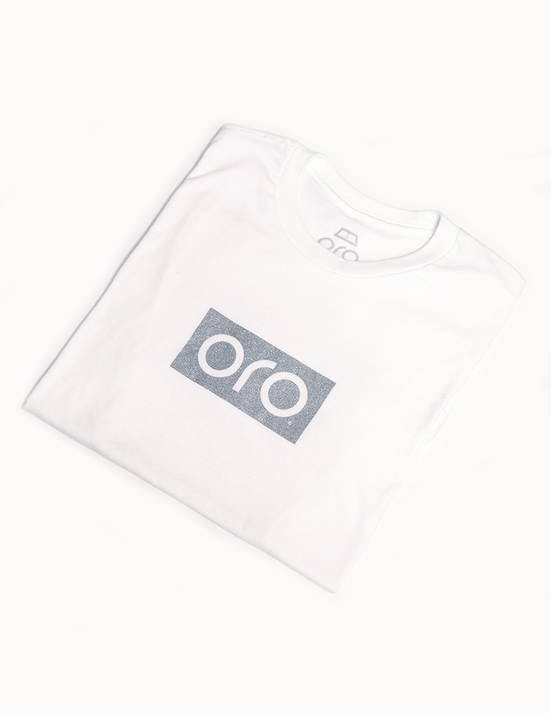 oro short sleeve t-shirt - white / white gold