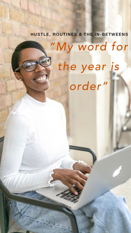 """My word for the year is order"" Fiona Kolade Mayowa Samuel"