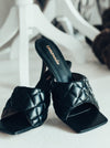 Black Square Toe Heel