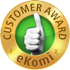 eKomi customer service award - gold