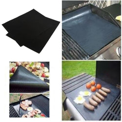 2pcs/set BBQ grill mat for grilling, baking and microwave oven use