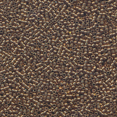 DB0022L - 11/0 Metallic Light Bronze Miyuki Delica Seed Beads DB22L 22L-Maddiethekat Designs