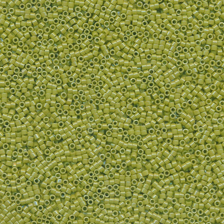 DB0262 - 11/0 Opaque Luster Lime Green Miyuki Delica Seed Beads DB262 262-Maddiethekat Designs