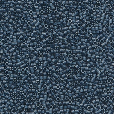 DB0301 - 11/0 Metallic Matte Luster Dark Blue Gray Miyuki Delica Seed Beads DB301 301-Maddiethekat Designs