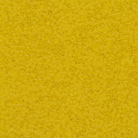 DB0743 - 11/0 Transparent Matte Yellow Miyuki Delica Seed Beads DB743 743-Maddiethekat Designs