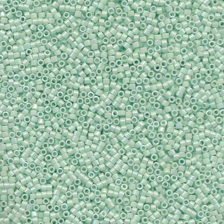 DB1506 - 11/0 Opaque Luster Rainbow Cool Mint Green Miyuki Delica Seed Beads 1506-Maddiethekat Designs