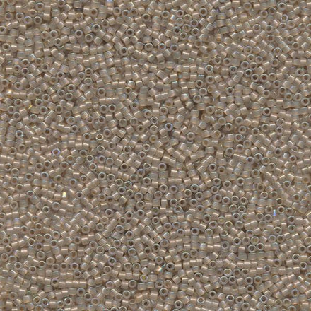 DB1731 - 11/0 Color-Lined Sparkle Oatmeal Cream Miyuki Delica Seed Beads 1731-Maddiethekat Designs