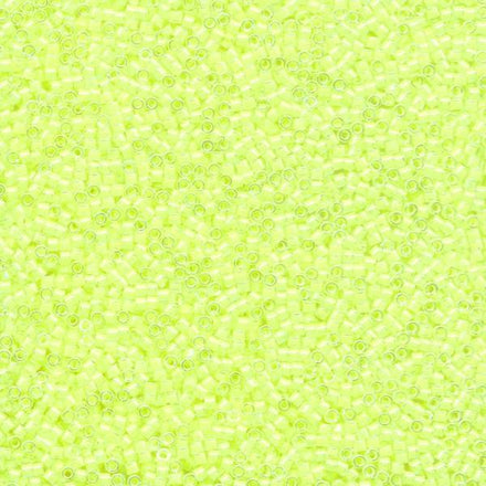 DB2031 - 11/0 Color-Lined Luminous Neon Yellow Miyuki Delica Seed Beads 2031-Maddiethekat Designs