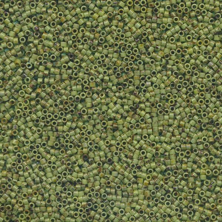 DB2265 - 11/0 Picasso Chartreuse Miyuki Delica Seed Beads 2265-Maddiethekat Designs
