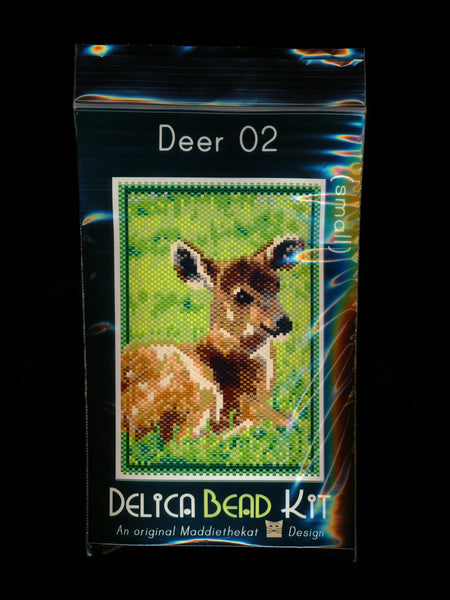 Deer 02 Small Panel Peyote Seed Bead Pattern PDF or KIT DIY-Maddiethekat Designs