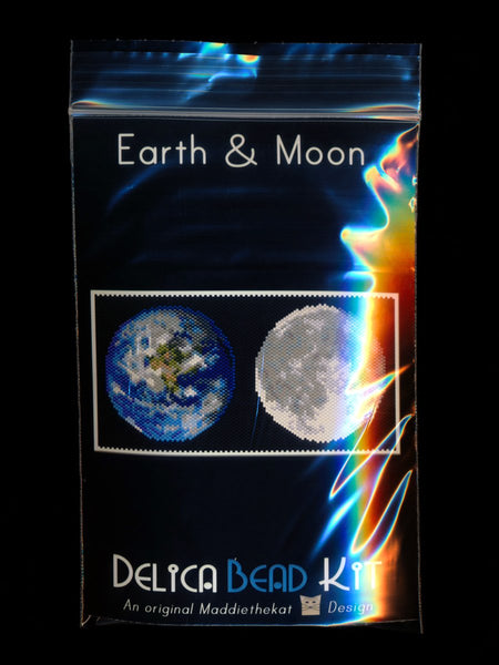 Earth & Moon (Panel or Amulet Bag) Peyote Seed Pattern PDF or KIT DIY-Maddiethekat Designs