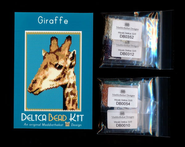 Giraffe Small Panel Peyote Bead Pattern PDF or KIT DIY-Maddiethekat Designs