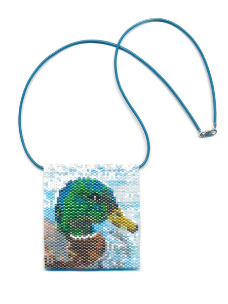 Mallard Duck Tiny Mini Amulet Bag Peyote Seed Bead Pattern or KIT DIY Bird-Maddiethekat Designs