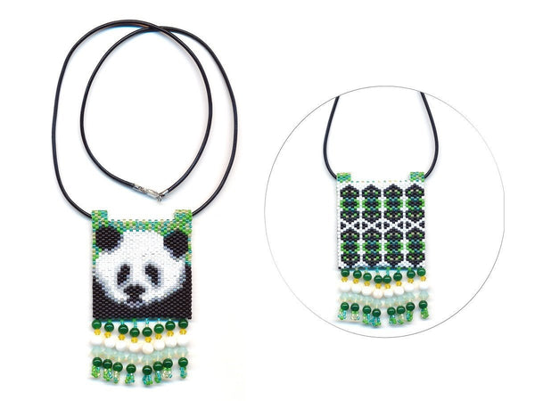 Panda Bear 03 Tiny Mini Amulet Bag Peyote Bead Pattern PDF or KIT DIY-Maddiethekat Designs