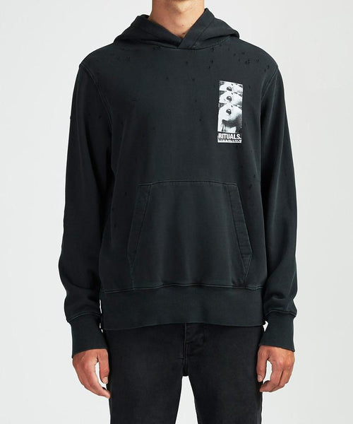RITUALS HOODIE BACK TO BLACK