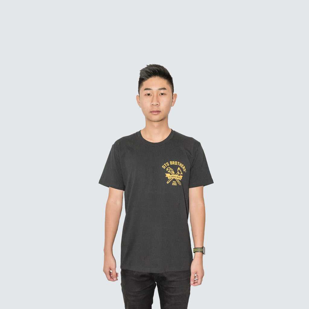 DTS Brother's Tee in Black/Yellow