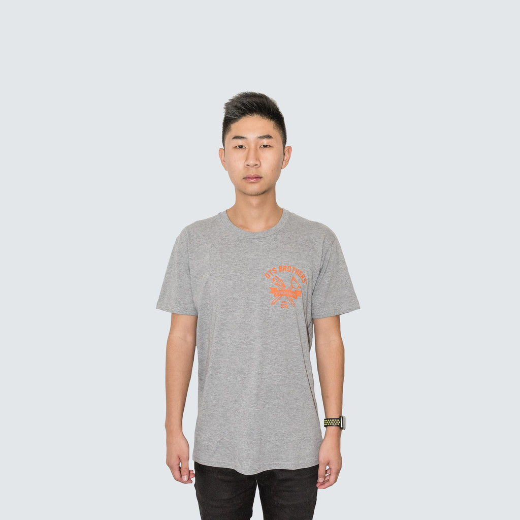 DTS Brother's Tee in Grey/Orange