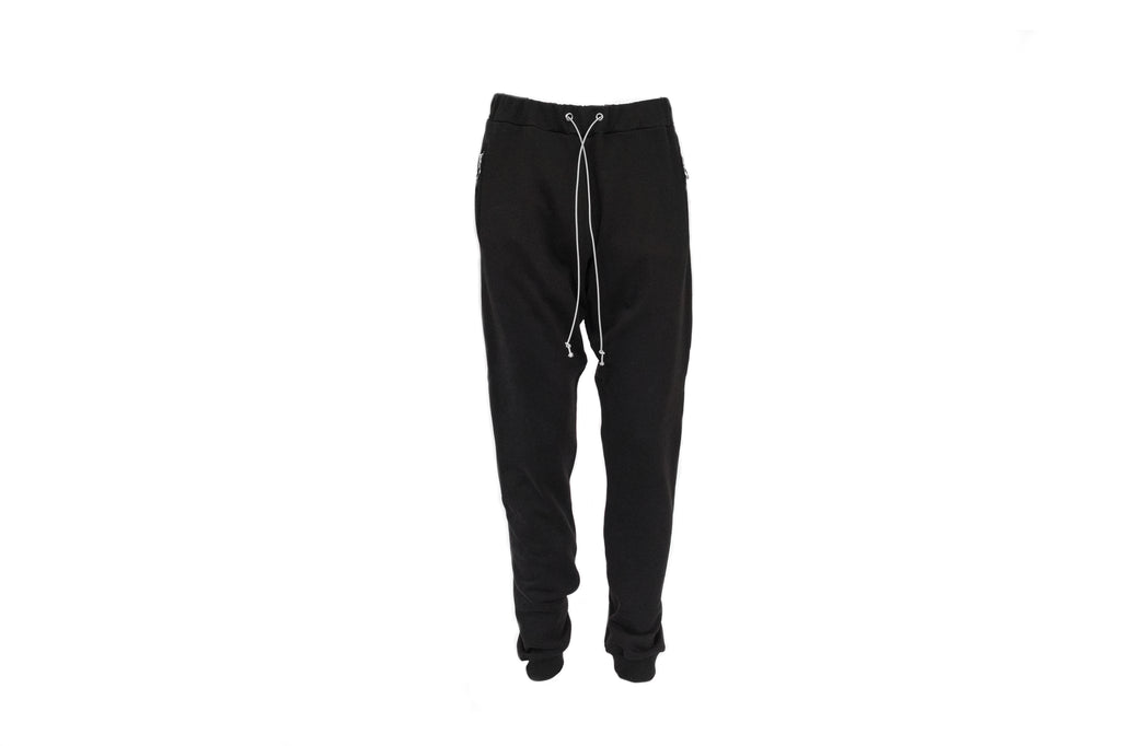 Mr. Completely Ring Zipper Sweatpant in Black