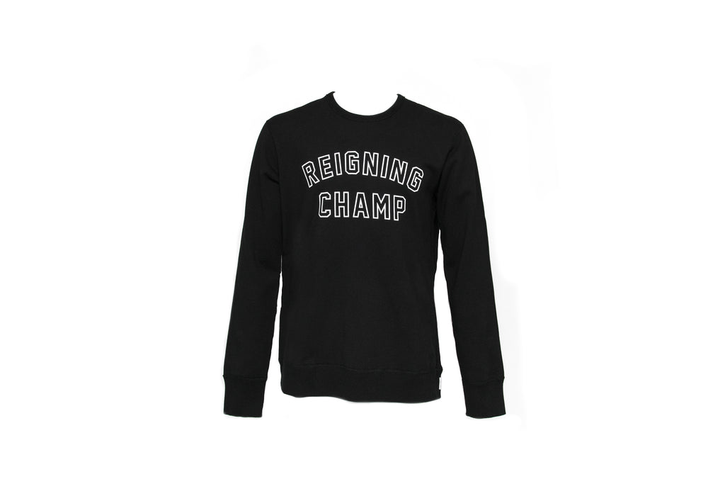 Reigning Champ Varsity Crew Neck (Black)