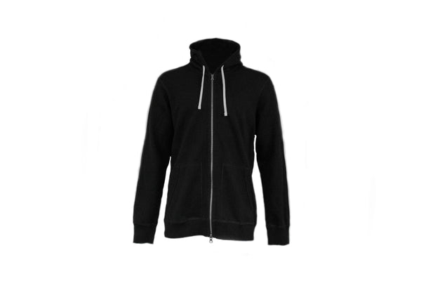 Reigning Champ Full Zip Terry Hoodie in Black