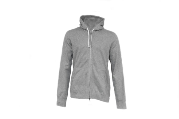 Reigning Champ Full Zip Terry Hoodie in Grey