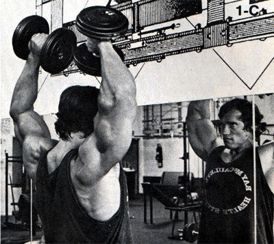 Arnold Schwarzenegger's shoulder workout